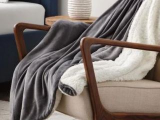 Throw  50 x60    Grey  Brookside Polyester Fleece Blanket