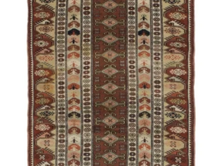 Dark Copper Rust Hand Knotted Ushak Copper Wool Rug Retail 276 49