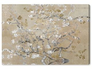 Oliver Gal  Van Gogh in Gold Blossoms Inspiration  Classic and Figurative Wall Art Canvas Print   Gold  Gray Retail 124 99