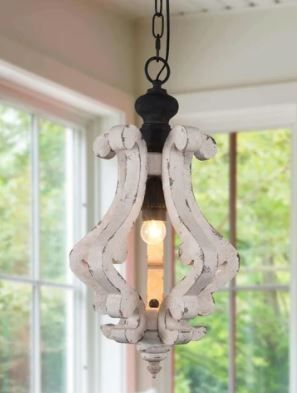 Cottage Rustic Wooden Chandelier Pendant  Retail 144 99