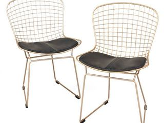 Simple living Newton Wire Chair  Set of 2  Retail 229 99