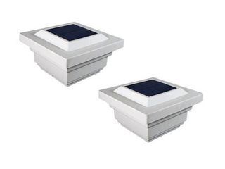 Classy Caps 4x4 PVC Regal Solar Post Cap  Set of 2