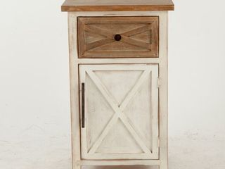 Brown Off white Wood Small Rustic Antique Console Cabinet Retail 162 49