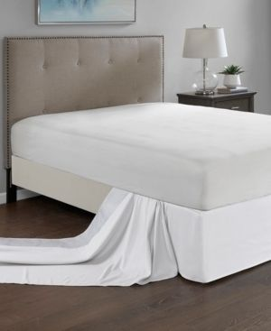 White Madison Park Simple Fit Wrap Around Adjustable 26 inch Drop Bedskirt