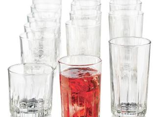 Brockton Drinkware Set By libbey  Includes 12 of 18 Glasses   RETAIl  39 77