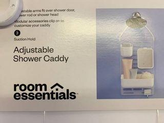3 PIECE Bathroom lot  Pebble Tub Mat  Adjustable Shower Caddy   PEVA Shower liner  RETAIl  35 98