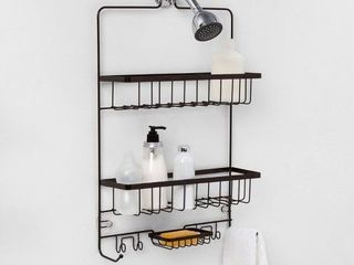 large Bathroom Shower Caddy   Made By Designa   Black  RETAIl  20 00