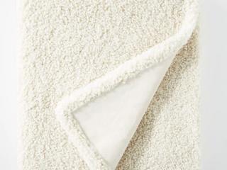 50 x60  Boucle Throw Blanket with Plush Reverse   Thresholda designed with Studio McGee  RETAIl  40 00