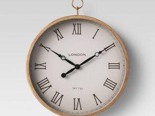 10  Thin Pocket Watch Clock Brass   Thresholda  RETAIl  29 99