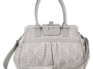 Waverly Baby by Trend lab Strands Sterling Framed Diaper Bag  Gray  Cream  RETAIl  57 72
