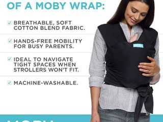 Moby Wrap Baby Carrier   Evolution   Baby Wrap Carrier for Newborns   Infants   Black  RETAIl  49 95