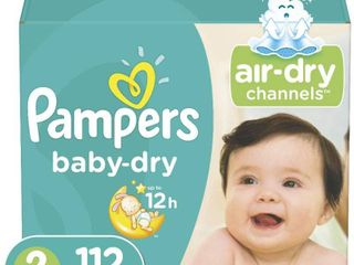 Pampers Baby Dry Disposable Baby Diapers  Size 2  112 Count   Super Pack  RETAIl  24 27