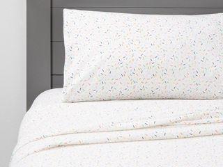 Sprinkle Social Flannel Sheets   Pillowforta  Size Full  RETAIl  24 00