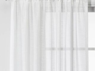 lOT OF 2 63 x54  Open Weave Sheer Curtain Panels   Project 62a  RETAIl  39 98