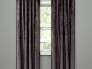 lOT OF 2 Velvet Curtain Panel   Project 62a   Gray  RETAIl  71 98