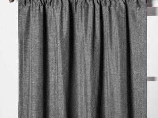 lOT OF 2 Dark Gray Heathered Thermal Room Darkening Curtain Panel   Room Essentialsa  RETAIl  19 98