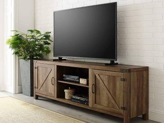 Walker Edison Furniture Modern Farmhouse TV Console   Fits TV s up to 80  Reclaimed Barnwood  RETAIl  250 94