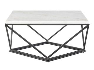 Conner Square Marble Top Coffee Table White   Picket House Furnishings  RETAIl  379 99