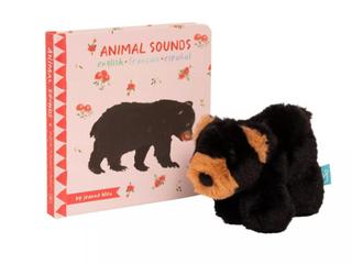The Manhattan Toy Company Mini Black Bear Gift Set  Book   Plush   RETAIl  19 99
