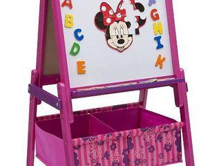 Delta Children DisneyAr Minnie Mouse Wooden Activity Easel with Storage  RETAIl  64 99