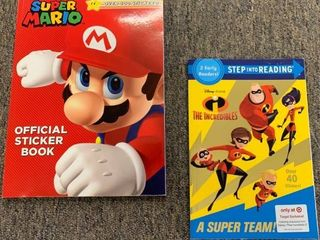 Super Mario Official Sticker Book   The Incredibles Step into Reading Book  RETAIl  8 99 12 99   21 98