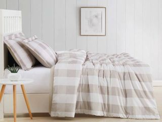Truly Soft Everyday Buffalo Plaid Printed Comforter Set  RETAIl  49 99
