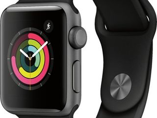 Apple Watch Space Gray Aluminum Case with Black Sport Band   38 MM  RETAIl   199 00