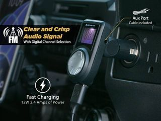 Scosche FMFreq Universal Digital FM Transmitter with USB Charger   Aux Cable  RETAIl  29 99