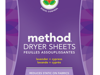 lOT OF 3 method lavender   Cypress Dryer Sheets   80ct  RETAIl  14 97