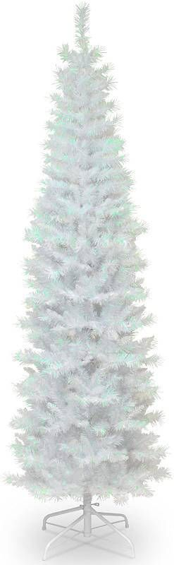 National Tree Company Artificial Christmas Tree   Includes Stand   White Iridescent Tinsel   6 ft  RETAIl  84 99