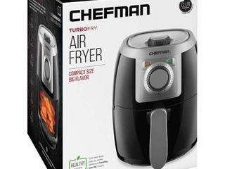 Chefman 2 1qt Analog Air Fryer   Black Silver  RETAIl  39 99