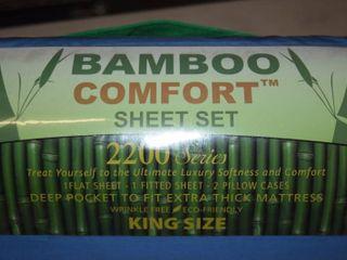 Bamboo Comfort King Size Sheet Set
