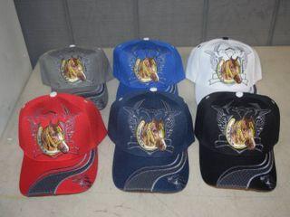 6 Ball Caps   Heavy Caps with Velcro Closure