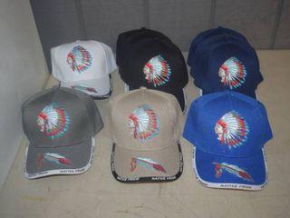 10 Ball Caps   Heavy Caps with Velcro Closure