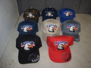 9 Ball Caps   Heavy Caps with Velcro Closure