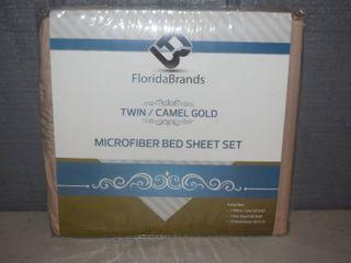 Microfiber Sheet Set Twin Camel Gold