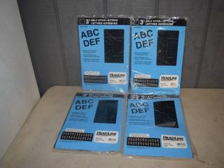 4 Packages of 3  Self Adhesive Black letters