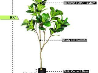 Crosofmi Fiddle leaf Fig Plant Artificial Tree 5 3