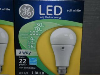 3 Pack GE lED 3 Way Bulbs