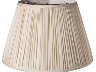 Cloth   Wire Slant Pencil Pleat Softback lampshade with Washer Fitter  Magnolia