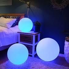 Modern Home Deluxe lED Glowing Sphere w Infrared Remote Control   Direct Wired