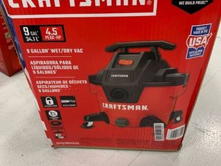 Craftsman 9 gallon wet dry vac