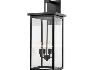 Millennium lighting 2603 Powder Coat Black 4 light 27  Tall Outdoor Wall Sconce