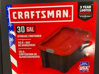 Craftsman 30 gallon storage container with no lid