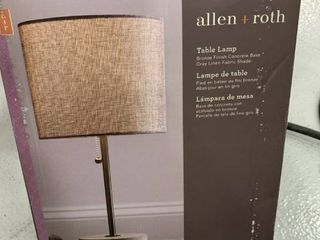 Allen and roth table lamp  bronze finish