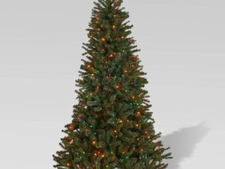 9 foot Noble Fir Pre lit String light or Unlit Hinged Artificial Christmas Tree by Christopher Knight Home Retail 272 99