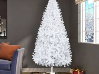 White  7FT Artificial White Christmas Tree with 950 Branches   Stand