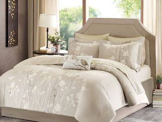 Taupe Holly Comforter Set Taupe Full 9pc