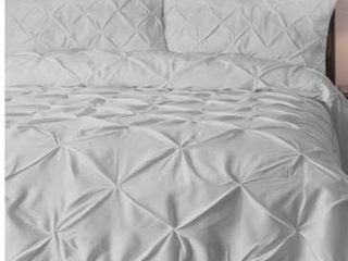 E luxury pinch pleat comforter set king