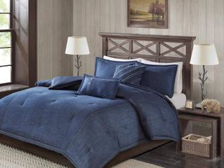 Woolrich Perry 5 Pc  King California King Denim Comforter Set